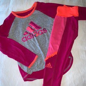 Adidas toddler girl set